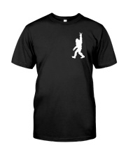 Funny bigfoot rocking under the moon - two side Classic T-Shirt thumbnail