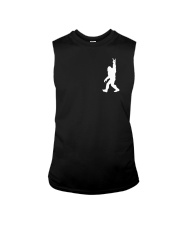 Funny bigfoot rocking under the moon - two side Sleeveless Tee thumbnail