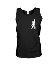 Funny bigfoot rocking under the moon - two side Unisex Tank thumbnail