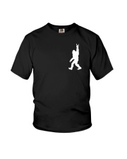 Funny bigfoot rocking under the moon - two side Youth T-Shirt thumbnail