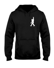 Funny bigfoot rocking under the moon - two side Hooded Sweatshirt front