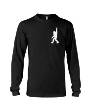 Funny bigfoot rocking under the moon - two side Long Sleeve Tee thumbnail