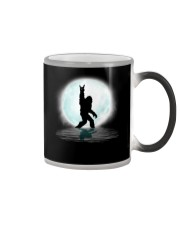 Funny bigfoot rocking under the moon - two side Color Changing Mug thumbnail
