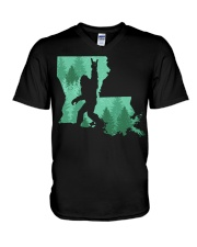 Bigfoot - Louisiana V-Neck T-Shirt thumbnail