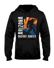 Arizona Bigfoot Hunter Flag Hooded Sweatshirt front