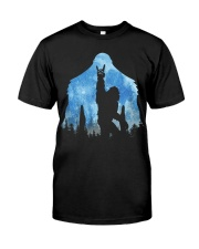 Bigfoot rock and roll ver moon Classic T-Shirt thumbnail