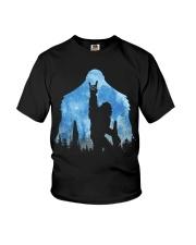 Bigfoot rock and roll ver moon Youth T-Shirt thumbnail