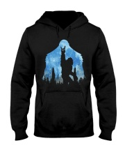 Bigfoot rock and roll ver moon Hooded Sweatshirt front