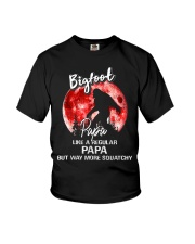 Bigfoot papa - red moon Youth T-Shirt thumbnail