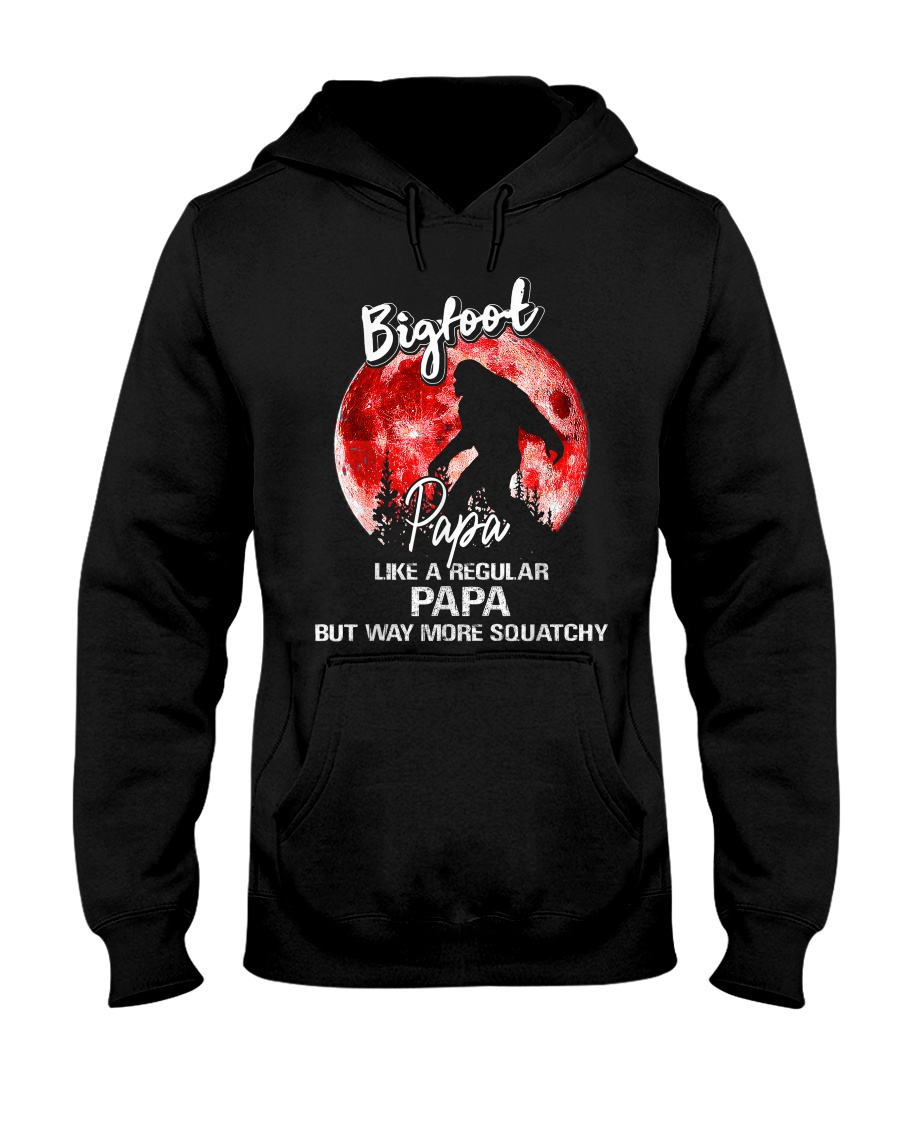 Bigfoot papa - red moon Hooded Sweatshirt