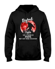 Bigfoot papa - red moon Hooded Sweatshirt front