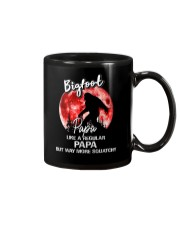 Bigfoot papa - red moon Mug thumbnail