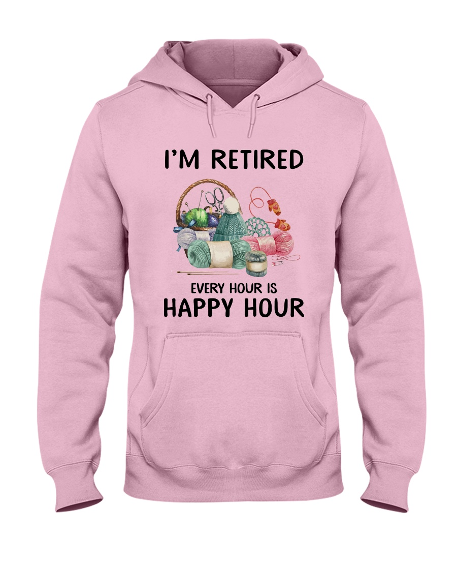 I'm retiered - knitting Hooded Sweatshirt