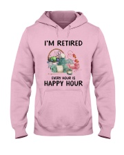 I'm retiered - knitting Hooded Sweatshirt front