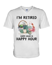 I'm retiered - knitting V-Neck T-Shirt thumbnail
