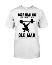 weight lifting old man Classic T-Shirt thumbnail