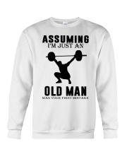 weight lifting old man Crewneck Sweatshirt thumbnail