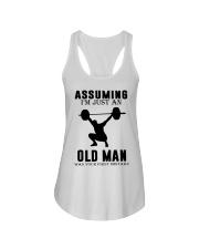 weight lifting old man Ladies Flowy Tank thumbnail
