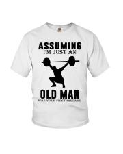 weight lifting old man Youth T-Shirt thumbnail