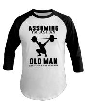 weight lifting old man Baseball Tee thumbnail