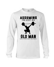 weight lifting old man Long Sleeve Tee thumbnail