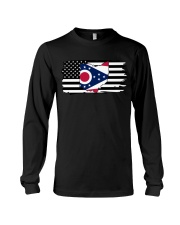 American and Ohio map 9993 0037 Long Sleeve Tee thumbnail