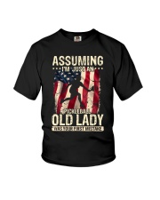Pickleball-Assuming i'm just an old lady Youth T-Shirt thumbnail
