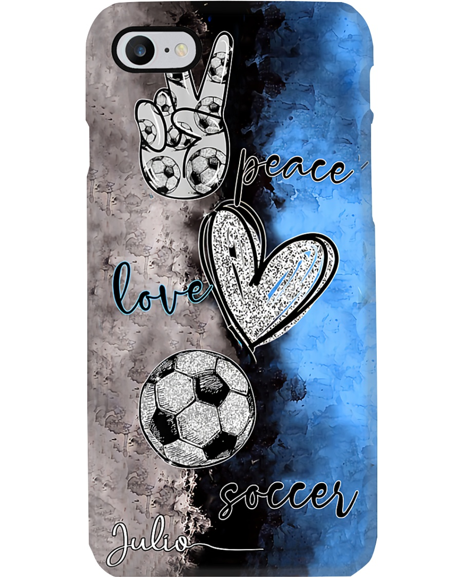 Peace - love - Soccer Julio's phonecase Phone Case