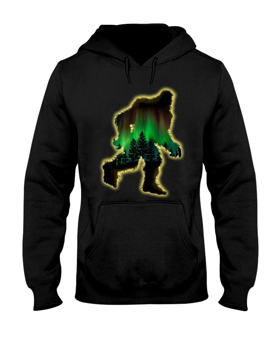Bigfoot aurora Hooded Sweatshirt