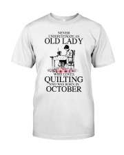 October quilting old lady Classic T-Shirt thumbnail
