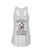 October quilting old lady Ladies Flowy Tank thumbnail