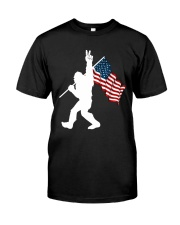 Bigfoot peace sign USA Classic T-Shirt thumbnail