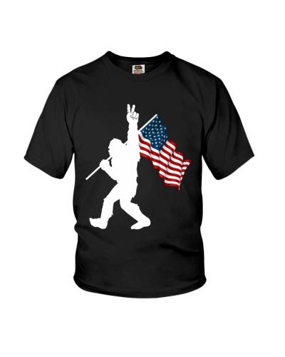 Bigfoot peace sign USA