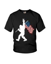 Bigfoot peace sign USA Youth T-Shirt thumbnail