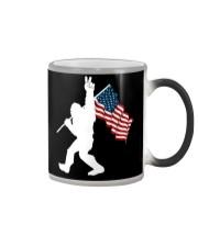 Bigfoot peace sign USA Color Changing Mug thumbnail