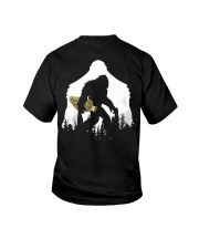 Bigfoot With Morel Mushroom - Back side Youth T-Shirt thumbnail