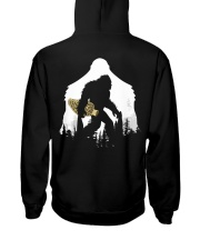 Bigfoot With Morel Mushroom - Back side Hooded Sweatshirt back