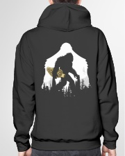 Bigfoot With Morel Mushroom - Back side Hooded Sweatshirt garment-hooded-sweatshirt-back-04