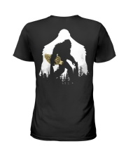 Bigfoot With Morel Mushroom - Back side Ladies T-Shirt tile