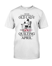 April quilting old lady Classic T-Shirt thumbnail