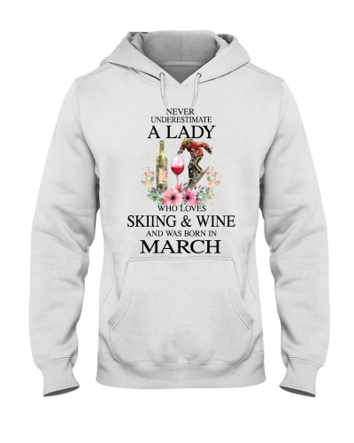 Skiing Wine Never Underestimate a Lady - March