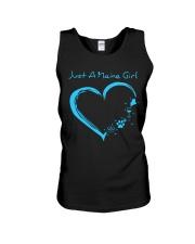 Just A Maine Girl Blue Unisex Tank thumbnail