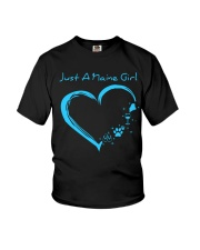 Just A Maine Girl Blue Youth T-Shirt thumbnail