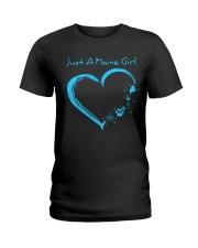Just A Maine Girl Blue Ladies T-Shirt thumbnail
