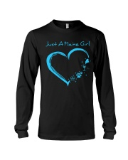 Just A Maine Girl Blue Long Sleeve Tee thumbnail