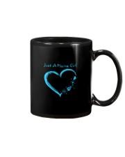 Just A Maine Girl Blue Mug thumbnail