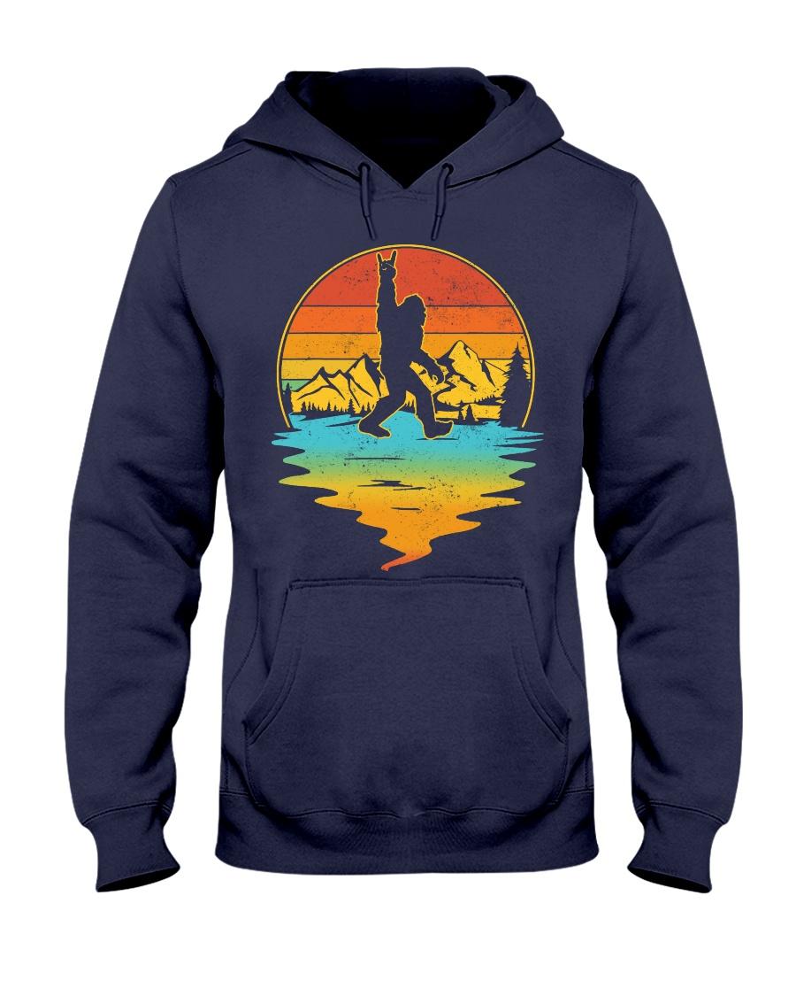 Bigfoot Rock and Roll Vintage Sasquatch Hooded Sweatshirt