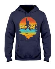 Bigfoot Rock and Roll Vintage Sasquatch Hooded Sweatshirt front
