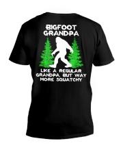 Bigfoot Grandpa - backside V-Neck T-Shirt thumbnail