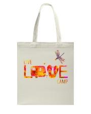 Camping live and love Tote Bag thumbnail